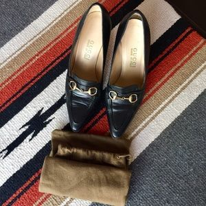 Gucci Shoes - Vintage Authentic Gucci Women Black Loafers Pumps